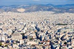 Εναέρια πανοραμική άποψη της Αθήνας Στοκ Εικόνες
