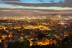 Εναέρια πανοραμική άποψη της Αθήνας Στοκ Φωτογραφία