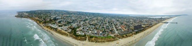 Εναέρια πανοραμική άποψη της παραλίας της Λα Χόγια, Σαν Ντιέγκο Στοκ φωτογραφία με δικαίωμα ελεύθερης χρήσης