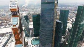 Εναέρια πτήση, flyby κοντινός ουρανοξύστης, ορίζοντες φιλμ μικρού μήκους