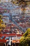 εναέρια πόλη Λισσαβώνα Στοκ εικόνα με δικαίωμα ελεύθερης χρήσης