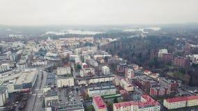 Εναέρια πόλη Jyvaskyla άποψης φιλμ μικρού μήκους