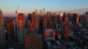 εναέρια πόλη Νέα Υόρκη απόθεμα βίντεο
