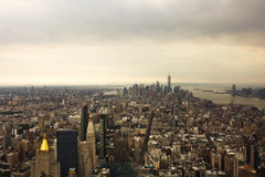 εναέρια πόλη Νέα Υόρκη Στοκ Εικόνες