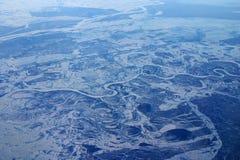εναέρια Σιβηρία στοκ φωτογραφίες