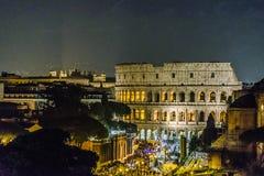 Εναέρια σκηνή νύχτας άποψης Coliseum, Ρώμη Στοκ φωτογραφίες με δικαίωμα ελεύθερης χρήσης