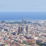 εναέρια της Βαρκελώνης barceloneta εικονικής παράστασης πόλης colom όψη οδών του Columbus column de district passeig σωστή Στοκ Φωτογραφίες