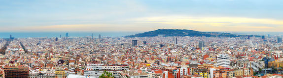 εναέρια της Βαρκελώνης barceloneta εικονικής παράστασης πόλης colom όψη οδών του Columbus column de district passeig σωστή Στοκ εικόνες με δικαίωμα ελεύθερης χρήσης