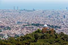 εναέρια της Βαρκελώνης barceloneta εικονικής παράστασης πόλης colom όψη οδών του Columbus column de district passeig σωστή Στοκ φωτογραφίες με δικαίωμα ελεύθερης χρήσης
