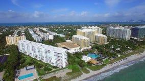 Εναέρια τηλεοπτικά βασικά συγκυριαρχίες Biscayne και πάρκο Crandon απόθεμα βίντεο