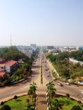 Εναέρια τοπ άποψη άποψης Vientiane Στοκ φωτογραφίες με δικαίωμα ελεύθερης χρήσης
