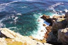 Εναέρια τοπ άποψη του ωκεανού Στοκ εικόνα με δικαίωμα ελεύθερης χρήσης