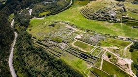 Εναέρια τοπ άποψη των καταστροφών inca Sacsayhuaman στοκ φωτογραφίες με δικαίωμα ελεύθερης χρήσης