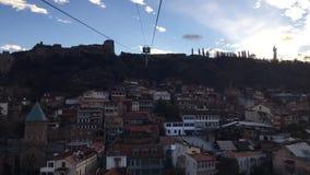 Εναέρια τροχιοδρομική γραμμή του Tbilisi απόθεμα βίντεο