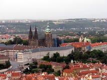 εναέρια τσεχική όψη δημοκρατιών της Πράγας Στοκ φωτογραφία με δικαίωμα ελεύθερης χρήσης