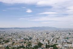 Εναέρια φυσική άποψη της πόλης Αθηνάς, Ελλάδα στοκ εικόνα με δικαίωμα ελεύθερης χρήσης