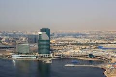 Εναέρια φωτογραφία άποψης πόλεων φεστιβάλ του Ντουμπάι Στοκ φωτογραφίες με δικαίωμα ελεύθερης χρήσης