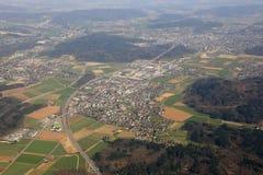 Εναέρια φωτογραφία άποψης Aargau Ελβετία καντονίου Hunzenschwil Στοκ φωτογραφία με δικαίωμα ελεύθερης χρήσης