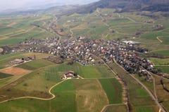 Εναέρια φωτογραφία άποψης Aargau Ελβετία καντονίου Wegenstetten Στοκ Φωτογραφία