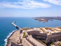 Εναέρια φωτογραφία ανατολής πανοράματος - αρχαία πρωτεύουσα Valletta Στοκ εικόνες με δικαίωμα ελεύθερης χρήσης