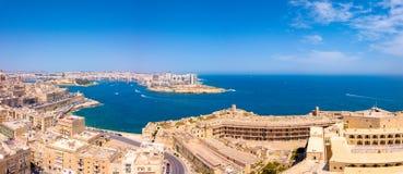 Εναέρια φωτογραφία ανατολής πανοράματος - αρχαία πρωτεύουσα Valletta Στοκ φωτογραφία με δικαίωμα ελεύθερης χρήσης