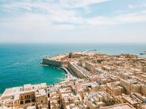 Εναέρια φωτογραφία ανατολής πανοράματος - αρχαία πρωτεύουσα Valletta Στοκ φωτογραφίες με δικαίωμα ελεύθερης χρήσης