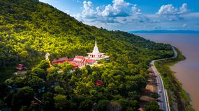 Εναέρια φωτογραφία Wat Khao Phra Lopburi Ταϊλάνδη Στοκ Εικόνα