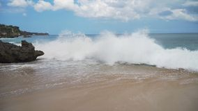 Εναέρια όμορφη παραλία άποψης Μπαλί, Ινδονησία Στοκ εικόνα με δικαίωμα ελεύθερης χρήσης