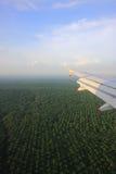 Εναέρια όψη από ένα αεροπλάνο Στοκ εικόνα με δικαίωμα ελεύθερης χρήσης