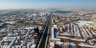 Εναέρια όψη από το Βουκουρέστι Στοκ εικόνα με δικαίωμα ελεύθερης χρήσης