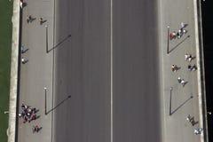 εναέρια όψη απλαδιών ποταμών της Γαλλίας Παρίσι γεφυρών εναέρια όψη Παρίσι Στοκ φωτογραφίες με δικαίωμα ελεύθερης χρήσης