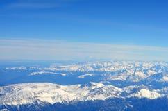 εναέρια όψη βουνών Στοκ εικόνα με δικαίωμα ελεύθερης χρήσης