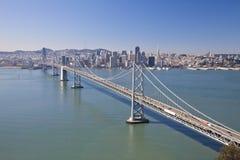 Εναέρια όψη γεφυρών κόλπων του Σαν Φρανσίσκο Στοκ φωτογραφίες με δικαίωμα ελεύθερης χρήσης