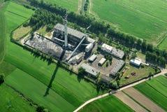 εναέρια όψη εργοστασίων άνθρακα Στοκ Φωτογραφίες