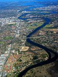 εναέρια όψη κύκνων ποταμών 2 Στοκ Φωτογραφίες