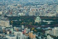 εναέρια όψη ουρανοξυστών περιοχών της Ιαπωνίας Νάγκουα πόλεων chubu Εναέρια άποψη με το SK Στοκ εικόνες με δικαίωμα ελεύθερης χρήσης