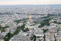 Εναέρια όψη Παρίσι Στοκ Εικόνες