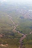 εναέρια όψη ποταμών στοκ εικόνες