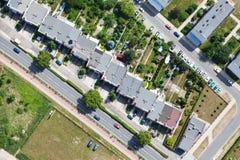 εναέρια όψη προαστίων πόλεων Στοκ φωτογραφία με δικαίωμα ελεύθερης χρήσης