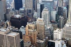 Εναέρια όψη πόλεων της Νέας Υόρκης Στοκ Εικόνα