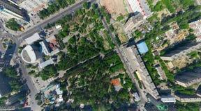 Εναέρια όψη πόλεων Στοκ Εικόνες