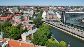 εναέρια όψη Στοκχόλμη απόθεμα βίντεο