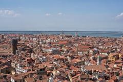Εναέρια όψη σχετικά με τη εικονική παράσταση πόλης της Βενετίας Στοκ φωτογραφία με δικαίωμα ελεύθερης χρήσης