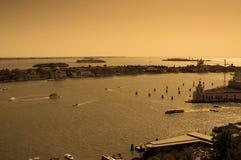 εναέρια όψη της Βενετίας πό&lam Στοκ φωτογραφία με δικαίωμα ελεύθερης χρήσης