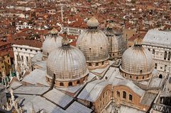 εναέρια όψη της Βενετίας πό&lam Στοκ εικόνα με δικαίωμα ελεύθερης χρήσης