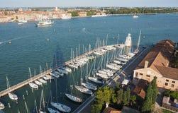 Εναέρια όψη της Βενετίας Στοκ φωτογραφία με δικαίωμα ελεύθερης χρήσης