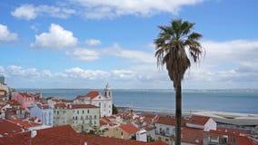 εναέρια όψη της Λισσαβώνας απόθεμα βίντεο