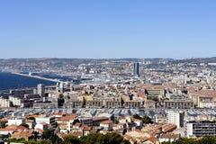 εναέρια όψη της Μασσαλίας Στοκ φωτογραφία με δικαίωμα ελεύθερης χρήσης