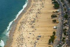 Εναέρια όψη της παραλίας Copacabana Στοκ εικόνα με δικαίωμα ελεύθερης χρήσης