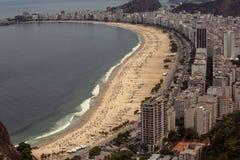 Εναέρια όψη της παραλίας Copacabana Στοκ Εικόνες
